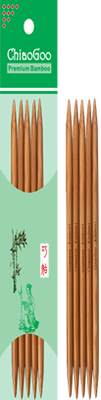 ChiaoGoo Double Point Bamboo Patina - 3.75mm - 15cm
