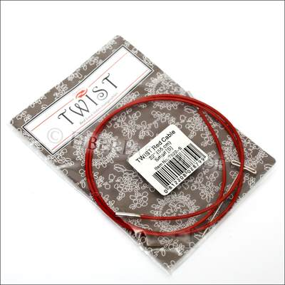 ChiaoGoo Twist Red Steel cable with Nylon Layer - 55cm (L)