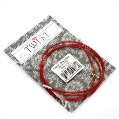 ChiaoGoo Twist Red Steel cable with Nylon Layer - 75cm (S)